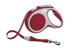 Рулетка-лента FLEXI VARIO M для собак весом до 25 кг, 5 м, красная